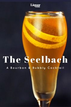 Whiskey Drinks We Love: The Seelbach. Bourbon, Bitters and Bubbly make the perfect tasting cocktail. Bourbon Cocktails, Whisky Cocktail, Whiskey Drinks, Bourbon Whiskey, Holiday Cocktails, Cocktail Drinks, Fun Drinks, Cocktail Recipes, Alcoholic Drinks
