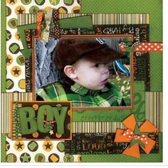 Boy page - mixing patterns