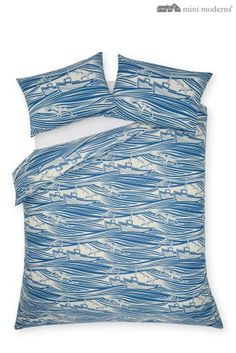 Buy Mini Moderns® Whitby Duvet Cover online today at Next: Rep. of Ireland Super King Duvet Covers, Latest Fashion For Women, Mens Fashion, Blue Boat, Cotton Bedding Sets, Vintage Textiles, Nautical, Cotton Fabric, Uk Online
