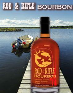 Rod & Rifle Bourbon #Bourbon #Wildlife #Rod&Rifle #Fishing #Hunting Whiskey Bottle, Vodka Bottle, Groomsman Gifts, Groomsmen, Bourbon, Liquor, Spirit, Packaging, Care Packages