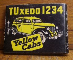 Yellow Cabs matchbook