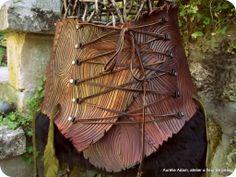 """Leather belt style """"wood """"  ©Aurélie Adam"""