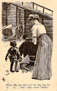 Andreas Bloch; humorkort (Mittet -3) stempla 1915 (Annonse nr: 1323837 - www.GiBud.no)