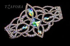 """Lilac"" - Swarovski ballroom bracelet, each one handmade in Canada. Ballroom jewelry, ballroom dancesport accessories. www.tzafora.com Copyright © 2016 Tzafora"