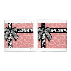 Discover Giraffe custom binders from Zazzle. Organize with school, work or recipe binders. Pink Giraffe, Giraffe Pattern, Recipe Binders, Custom Binders, Staying Organized, Bridal Shower, Ribbon, Stripes, Organization