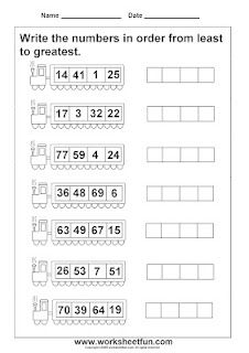 Printables Least To Greatest Worksheets worksheets on ordering numbers from greatest to least for grade 1 1000 images about school math pinterest