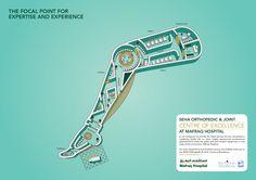 Mafraq Hospital - Advertising - floor map - Joints