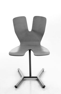 Kromosom chair Design: Jan Tromp, 1998 Kromosom is a small, stackable pedestal chair meant for use in the home and in public spaces. The Kromosom range also includes a table. Public Spaces, Pedestal, Chair Design, Floor Chair, A Table, Range, Flooring, Furniture, Home Decor