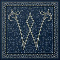Monogram Handkerchief | Spencer Charles w/ Louise Fili