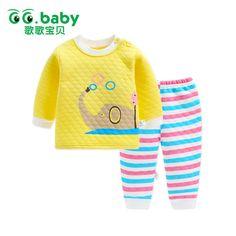2pcs Baby Set Cotton Autumn Winter Baby Boy Clothes Set Bebes Suit Warm Tops Pants Infant Newborn Baby Boy Outfit Clothes Sets