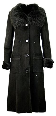 Women's Suede Sheepskin coat, LAmbskin coat / leather , fur KPKD-0010 (XXS) * Read more reviews of the product by visiting the link on the image.