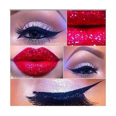 Makeup Tutorials: Create Holiday Looks Without Changing Your Routine ❤ liked on Polyvore featuring beauty products and makeup