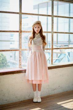 Korean Fashion – Designer Fashion Tips Korean Fashion Dress, Korean Street Fashion, Asian Fashion, Women's Fashion Dresses, Korean Traditional Dress, Traditional Fashion, Traditional Dresses, Kawaii Fashion, Lolita Fashion