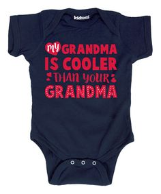Look at this Navy 'Cooler Than Your Grandma' Bodysuit - Infant on #zulily today!