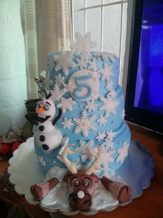 #Frozen #cake #olaf #sven #manzanillo #colima #sweetcakesandcupcakes #party #princesses