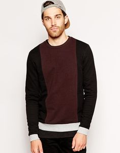 4841103b404 ASOS Sweatshirt With Colour Block Panels Colour Block