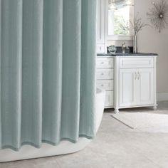 Croscill Fairfax Aqua Shower Curtain White Twinkle