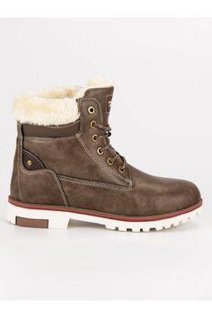 Teplé zimné topánky trapery hnedé Timberland, Vans, Boots, Winter, Fashion, Crotch Boots, Winter Time, Moda, Fashion Styles