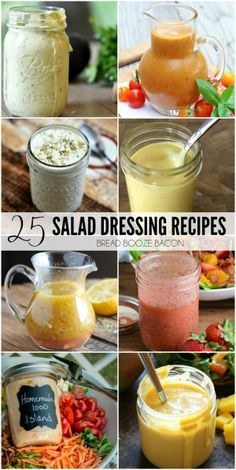 Salads are my go-to easy summer meal any time of day. Amp up your flavors with these totally delicious 25 Salad Dressing Recipes!
