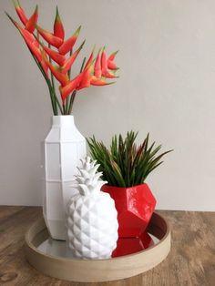 """Ceramic Pineapple 11.5"""" Pineapple, Planter Pots, Ceramics, Ideas, Decor, Ceramica, Decorating, Pinecone, Pine Apple"""
