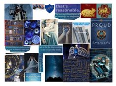 """Or yet in wise old Ravenclaw, if you've a ready mind, Where those of wit and learning, Will always find their kind (Round 2)"" by ilovecats-886 ❤ liked on Polyvore featuring art and botmadcr2"