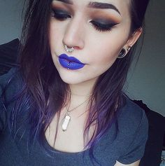 Piercing Blue // Real Girls Wearing Rainbow Lipstick