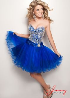 Any Shade of Blue Short Formal Dresses