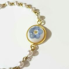 Unique flower girl or bridesmaid gift! Real flower bracelet