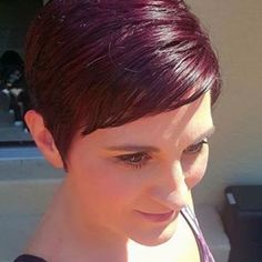 "I dont feel 42 anymore"" -Kristie after using Volterra Amethyst for the very first time. Were loving these gorgeous results! Undercut Hairstyles Women, Long Face Hairstyles, Short Pixie Haircuts, Edgy Pixie Hairstyles, Undercut Pixie, Braided Hairstyles, Wedding Hairstyles, Brown Pixie Cut, Thick Hair Pixie"
