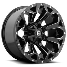 Fuel 1 Piece Assault Gloss Black and Milled Wheels And Tires, Car Wheels, Truck Rims And Tires, Car Rims, Fuel Rims, Jeep Wrangler Wheels, 17 Inch Wheels, Racing Wheel, Black Wheels