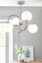 Buy Woodstock 3 Light Flush Fitting from the Next UK online shop Flush Ceiling Lights Uk, Kitchen Ceiling Lights, Wall Lights, 3 Light Pendant, Pendant Lighting, Fabric Shades, Polished Nickel, Table Lamp, Glass