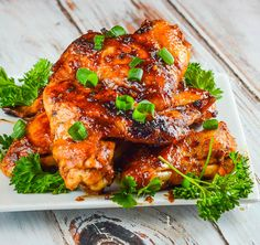 Sticky Asian Chicken Wings - Flavor Mosaic - on MyRecipeMagic - #appetizers #chickenwings