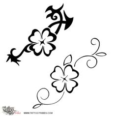 TATTOO TRIBES: Tattoo of clover, Good luck tattoo,clover four-leaf goodluck amulet tattoo - royaty-free tribal tattoos with meaning Four Leaf Clover Tattoo, Clover Tattoos, Mini Tattoos, New Tattoos, Small Tattoos, Hawaiianisches Tattoo, Ankle Tattoo, Mama Tattoo, Tatouage Mama