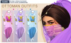 Ottoman Outfits (Recoloured by I was searching Iraqi clothes for Princess Jasmine as I was planning to make The Sims 4 Version of 'Historically Accurate Disney Princess Series' however I cannot find any good cc so I've decided. Disney Princess Challenge, Disney Princess Outfits, Disney Princess Jasmine, Disney Princesses, Sims 4 Mods, Les Sims 4 Pc, Sims Cc, Sims 4 Cc Eyes, Sims 4 Anime
