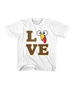 Look what I found on #zulily! White 'Love Turkey' Tee - Toddler & Kids #zulilyfinds