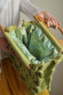 Sidney Artesanato: Bolsa de tricot com gráfico