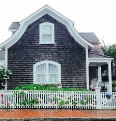 Natucket cottage in the rain.