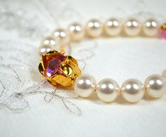 #Gold #rosebud #bridal #bracelet by MossRoseBrideJewelry, $85.00