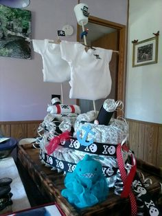 Pirate diaper cake for baby 2016