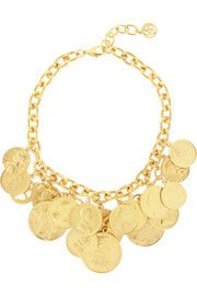 Ben-AmunGold-plated coin necklace