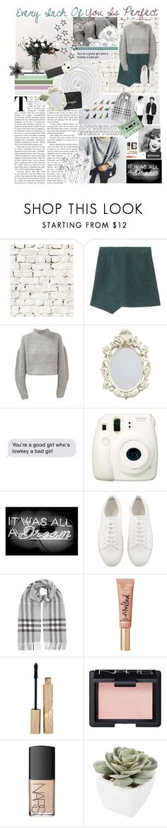 """""""~Every Inch Of You Is Perfect~"""" by theafergusma ❤ liked on Polyvore featuring Milton & King, Chanel, Fujifilm, Oliver Gal Artist Co., Burberry, Stila, NARS Cosmetics, Abigail Ahern and valesonehundred"""