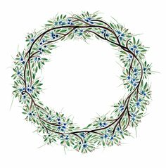 Hand Painted, Watercolour Wreath - Katy Bennett for Bee Illustrated