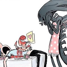 Happy Mother's Day to all the moms / Xenomorph Queens out there! Alien Films, Aliens Movie, Aliens Funny, Xenomorph, Art Alien, Alien Alien, Jiang Shi, Alien Vs Predator, Happy Mother S Day