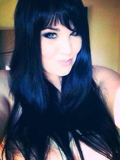 My Blue Hair Color Black Hair With Bangs Hair Color HairStyles, Hair Colors Hair Styles Blue Black Hair Dye, New Hair Colors, Hair Color For Black Hair, Dark Hair, Color Black, Hairstyles With Bangs, Pretty Hairstyles, Pelo Color Azul, Hair Today