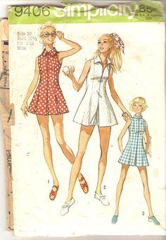 Misses Tennis Dress Skort Pattern Size 10 Bust 32 by CherryCorners, $8.00