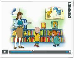 CAILLOU BIBLIOTECARIO (Vídeo de animación a la lectura) Caillou, Videos, Vocabulary, Kids Rugs, Pictures, Teaching Resources, Storytelling, Children's Books, Photos