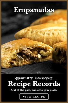 Meat Recipes, Mexican Food Recipes, Appetizer Recipes, Cooking Recipes, Appetizers, Recipies, Empanadas Recipe, Beef Empanadas, Good Food