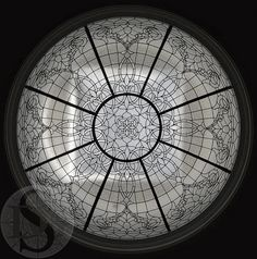 Leaded Glass Wedding Ring Dome by Solarium Design Group Ltd, via Flickr