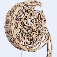 Wooden City Puzzle Building Mechanical Pendulum Model for sale online 3d Puzzles, Wooden Puzzles, Wall Clock Kits, Wooden Model Kits, Mechanical Gears, Gear Clock, Laser Cutter Projects, Modelos 3d, Steampunk Design