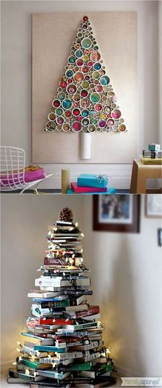 christmas decor ideas 18 Unconventional and beautiful DIY Christmas trees : ideas to create unique Christmas decorations for your home, perfect for any space in your home! - A Piece Of Rainbow christmas decorations, christmas tree ideas farmhouse decor, Unique Christmas Decorations, Diy Christmas Tree, Christmas Projects, All Things Christmas, Tree Decorations, Holiday Crafts, Christmas Ornaments, Outdoor Christmas, Office Christmas